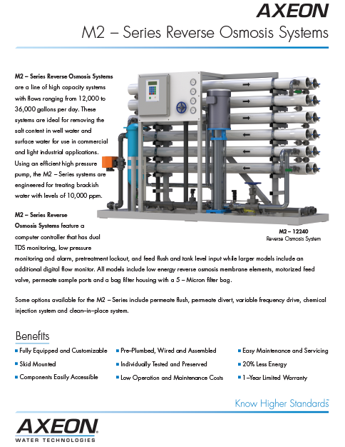 M2 – Series Reverse Osmosis Systems